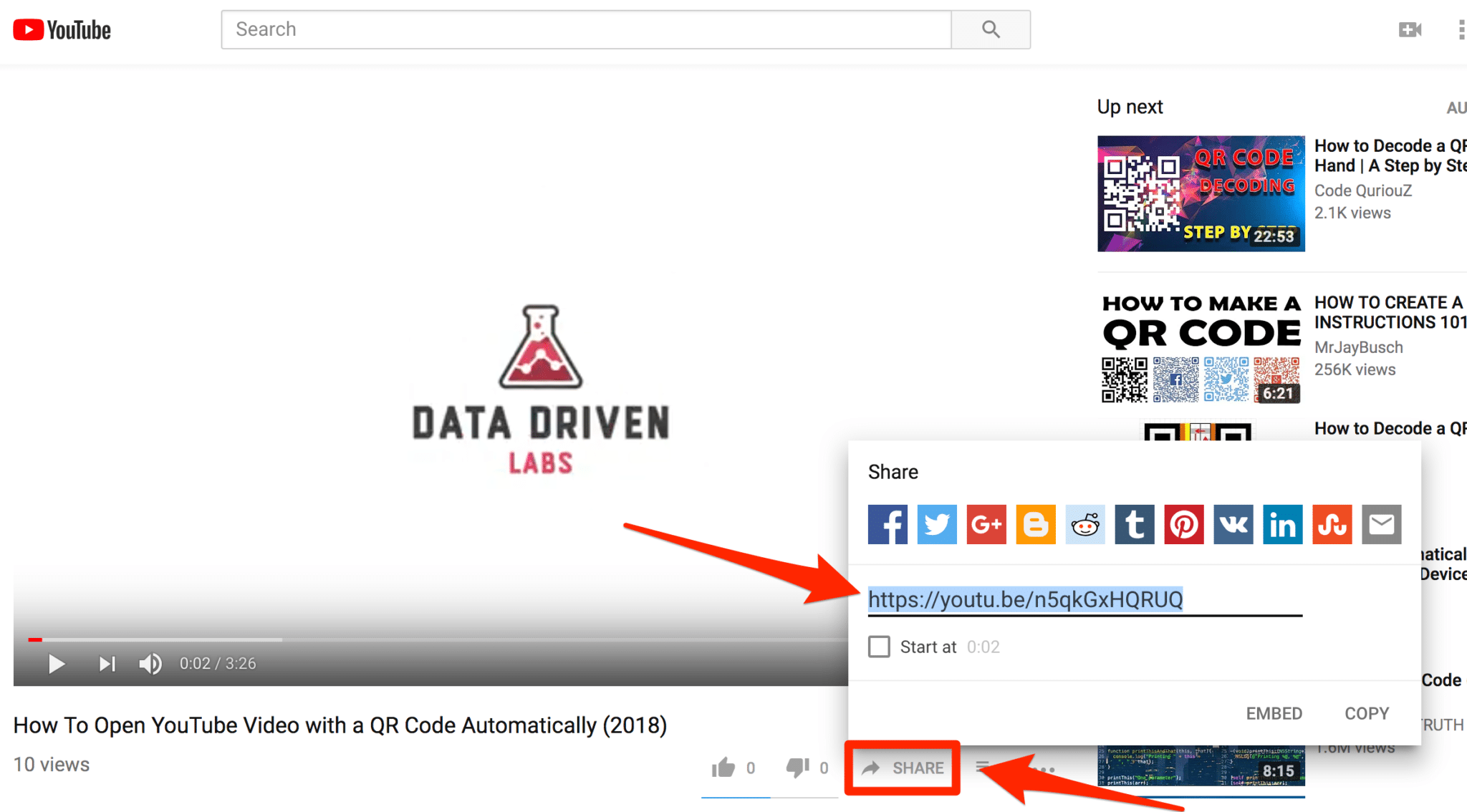 How To Make A QR Code Automatically Open A YouTube Video on